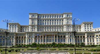 Palace of Parliament in Bucharest, Romania. Palatul Parlamentului