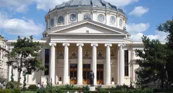 The Romanian Athenaeum in Bucharest. Ateneul Roman