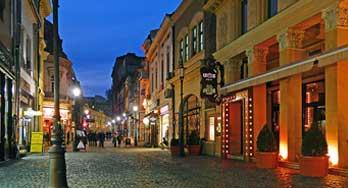 Lipscani Street in Bucharest. Strada Lipscani